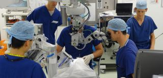 The first trial of robot-assisted eye surgery in patients has shown the technique to be both safe and effective.