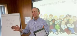 Mike Moher teaching the Patient and Doctor Course