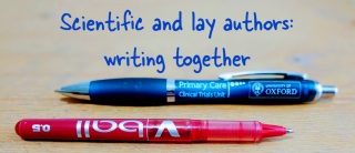 Scientific and lay authors writing together