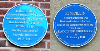 Penicillin in oxford four plaques and a memorial