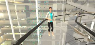 Pioneering clinical trial of automated virtual reality (VR) psychological therapy for fear of heights.