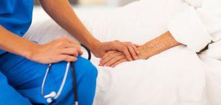 Hospital holding hands