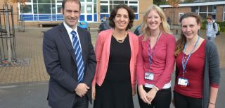 Mina Fazel with school team (headteacher, school health nurse and PCAMHS worker)