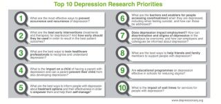 Top 10 depression research priorities