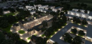 Warneford masterplan by night