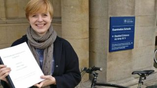 Dr Sarah Reeve was delighted to be awarded a DPhil for her research into the relationship between sleep and psychosis.