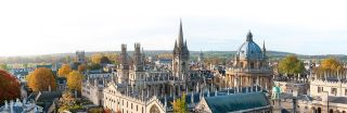 Oxford skyline in autumn