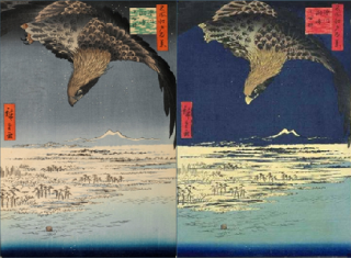 19th Century Japanese landscapes used in the study