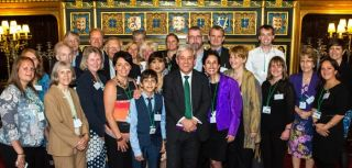 Rt Hon. John Bercow, Speaker of House of Commons, and RALLI team & supporters including students, ex students, parents and professionals from Moon Hall College, Reigate and Moor House School Oxted
