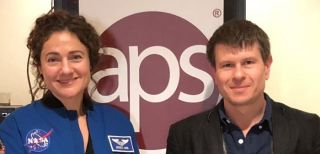 """Vladyslav Vyazovskiy gave a talk at a symposium entitled """"Harnessing naturally evolved torpor to benefit human spaceflight"""" at the American Physiological Society Conference in New Orleans, alongside NASA astronaut Jessica Meir."""