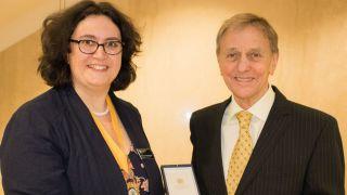 A visual experience: DPAG Emeritus Professor receives College of Optometrists Award