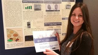 Kristie McCormick was awarded a prize for the presentation of her poster at the CRUK Oxford Centre 2015 Symposium on June 5th.