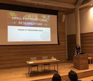 Postdoc Research Day, Wolfson College, 9th November 2018
