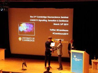 Lukas k wins cns poster prize
