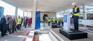 Topping out ceremony held at big data institute