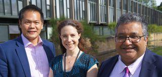 Professor Ashok Handa, Professor Eleanor Stride and Dr Regent Lee from the University of Oxford.