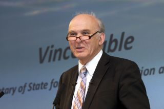 Vince cable visits oxford university