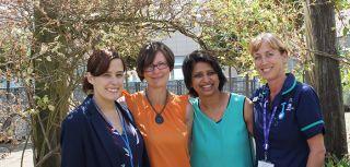 From L-R: Dr Clare Verrill, Mrs Gemma Marsden, Ms Pankaj Gupta Roy and Ms Jane Niederer