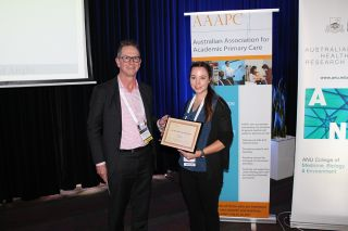 First time presenter award received at aaapc conference in canberra