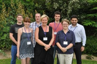Back row: Maximilian Johnston, Patient Safety Translational Research Centre: Imperial; Kieran Ayling, NIHR School of Primary Care Research; Alexandros Georgiadis, NIHR CLAHRC South West Peninsula; Christos Petridis, BRC Guy's and St Thomas; Front row: Bethan Monk, BRU Bristol: Cardiovascular; Prof. Catherine Exley, Newcastle University; Helen Barratt, NIHR CLAHRC North Thames.