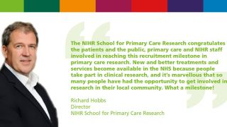 One million participants in primary care research