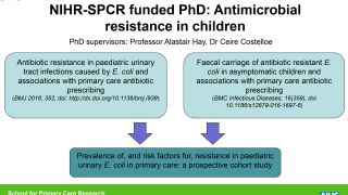 SPCR doctoral student presents AMR outcomes to DH Chief Scientific Adviser