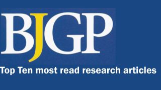 BJGP top ten most read articles
