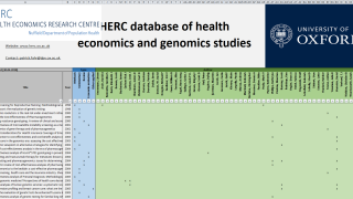 The HERC database of health economics and genomics studies version 1.0 is now available.
