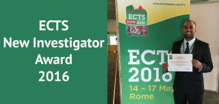 Pradeep wins ECTS New Investigator Award