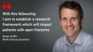 NIHR Clinician Scientist Award to improve outcomes for Open Fracture Patients