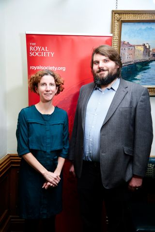Dr Luke Jostins-Dean with local MP Anneliese Dodds