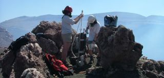 Department of Earth Sciences researchers monitoring volcanic emissions