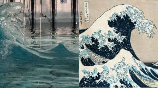Famous freak wave recreated in lab mirrors Hokusai's 'Great Wave'