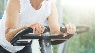 Elderly man on bike 1