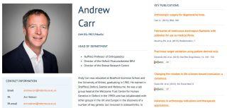 Website profile