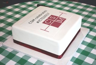 Clinical trial starts day cake