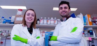 Photo of  Dr Amity Roberts and Dr Matteo Vecellio