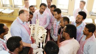 A government-funded scheme whereby doctors from Oxford's Nuffield Orthopaedic Centre (NOC) and researchers at NDORMS volunteer to conduct training and research in a number of African countries benefits not only the health services in the countries concerned, but also the professional development of the volunteering staff, a study has found.