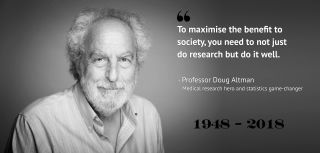 Doug Altman did nothing short of forever changing the fields of statistics and medical research. With that, he touched the lives of thousands, if not millions of people worldwide… a handful more than those who will miss him.
