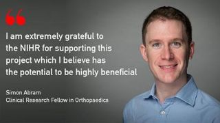NIHR fellowship to review Degenerative Meniscal Tears