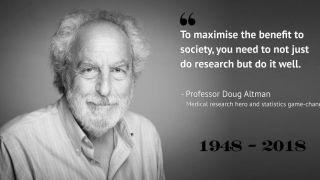 Sad loss of Professor Doug Altman