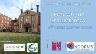 Real World Data Epidemiology: Oxford Summer School
