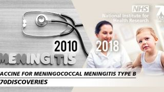 "NHS features the Meningitis B vaccine in its ""70 years, 70 discoveries"" campaign"