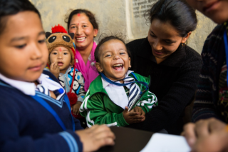 On November 20, 2017, the Typhoid Vaccine Acceleration Consortium (TyVAC) vaccinated the first of 20,000 children against typhoid, successfully launching a study to assess the impact of typhoid conjugate vaccines (TCVs) in preventing typhoid among children in Nepal.