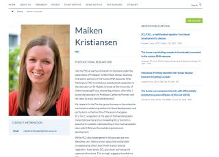 Example online profile 1