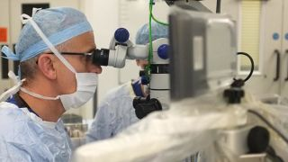 Second key step for eye robot trial