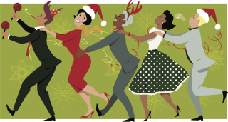 Dancers at a Christmas Party