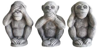Image of three monkeys - 'see no evil, hear no evil, speak no evil'