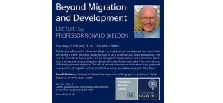Beyond migration and development