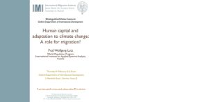 Human capital and adaptation to climate change a role for migration
